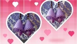 Серьги ′сиреневая лилия′