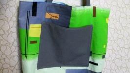 Эко-сумка, шоппер из плотного хлопка.