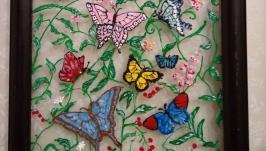 витражная роспись ′Бабочки′