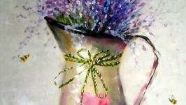 Картина маслом ′Лавандовое настроение′