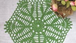 Салфетка хлопковая зеленая