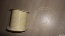Вощеный шнур бежевый 2 мм