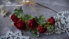 Венок из фоамирана красные розы