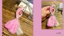 Брошь ′Птица розовой мечты′