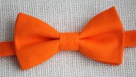Галстук-бабочка оранжевая  в ассортименте
