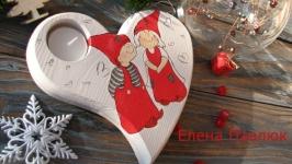 Подсвечник на Новый год ′Рождественский подарок′, новогодний декор
