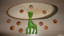 Грызунок силиконовый Жираф мятный