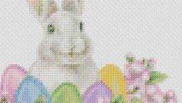 Схема картины - Кролик пасхальный