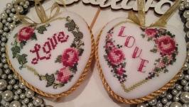 Набір з 2ох сердець на день Валентина ′Любов′