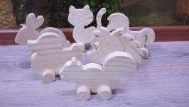 Заготовки из дерева. Фигурки на колесах