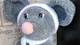 Плюшевый мышонок Артемка