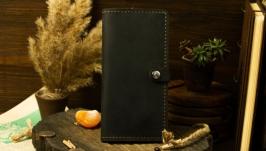 Классический кошелек портмоне из натуральной кожи, Класичний гаманець