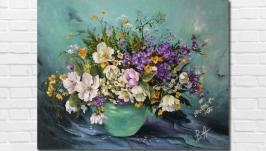 Картина маслом ′Весеннее настроение′ 35х45 см. Холст на подрамнике, масло