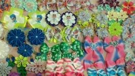 Бантики, заколочки в стиле канзаши