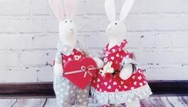 Игрушки интерьерные ′Влюбленные кролики′