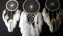 Ловец снов композиция для спальни! Настенное панно из 3 ловцов.