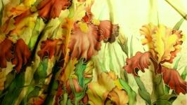 шарф ирисы батик