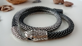 Серебристый Жгут Змейка