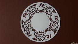 Вырубка Салфетка с розами, декор для скрапбукинга