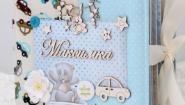 Фотоальбом ручной работы для новорожденного мальчика