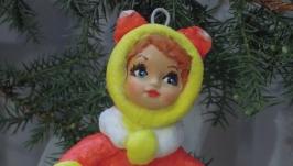 елочная игрушка ′лисичка′