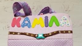Развивающая сумочка-домик для девочки