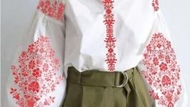 Блуза вышитая женская бохо