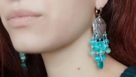 Сережки ′Морський бриз′ (стерлінгове срібло)