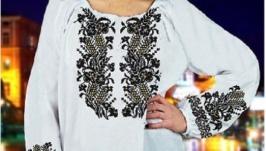 Блуза вышитая женская - Колоски