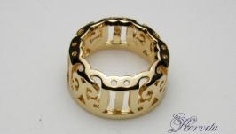Ажурная оправа для круглых риволи золото 12 мм