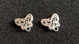 Коннектор бабочка ажурная 16*15