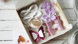 Подарочный набор заколок для девочки  Заколки резинки для волос в подарок