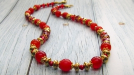 Червоне - то любов (намисто з натурального каміння)