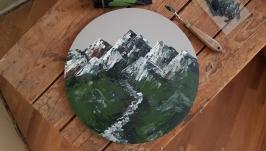 Картина акрилом ′Гори′ - Настенный декор, живопись