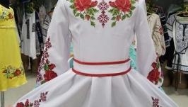 Платье вышитое клеш Зоряна