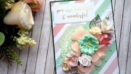 Универсальная открытка ′You are beautiful and wonderful′