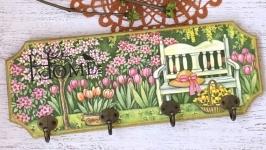 Вешалка-панно  ′Весенний сад′