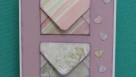 Открытка-валентинка с конвертами