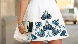 Платье вышитое женское короткое