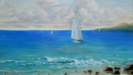Картина маслом Морской пейзаж .