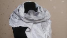 шарф валяний  ′За мить до зливи′
