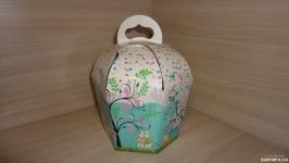 Коробка купол, упаковка для паски, кулича цветная 11х11х16 см