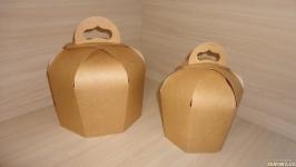 Коробка купол, упаковка для паски, кулича крафт 14х14х18 см