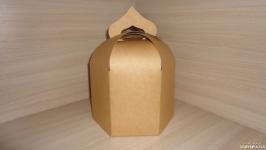Коробка купол, упаковка для паски, кулича крафт 16.5х16.5х20 см