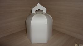 Коробка купол, упаковка для паски, кулича белая 16.5х16.5х20 см