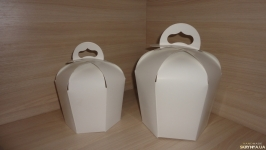 Пасхальная упаковка. Коробка для кулича 14х14х18 см