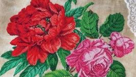 Схема для вышивки ′Старинный пион с розами′