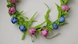 Цветочный веночек ручной работы «весна»