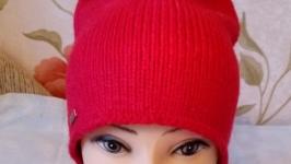 Шапка ′Гламурочка′ красная