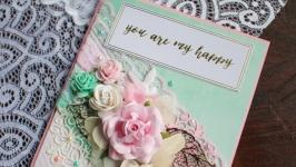Универсальная открытка ′You are my happy′